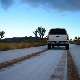 A little weather rolled in and dumped some snow at Joshua Tree.
