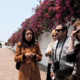 Our guide explains the history of Lima.