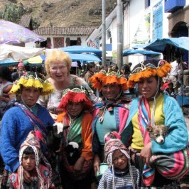 At the Pisac market we were greeted by colorful girls hoping to get a tip for posing.