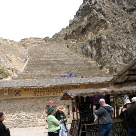 The fortress of Ollantaytambo is the first Inca ruin we visited. Climbing the hundreds of rough rock stairs looked intimidating but that is why we came to Peru.