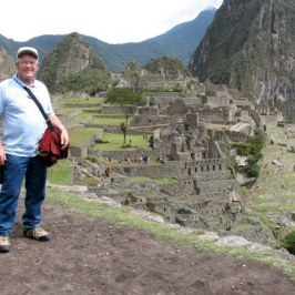Dick with Huayna Picchu in the background.