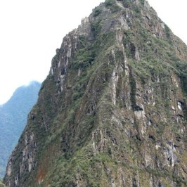 The full picture of Huayna Picchu shows how steep it really is.