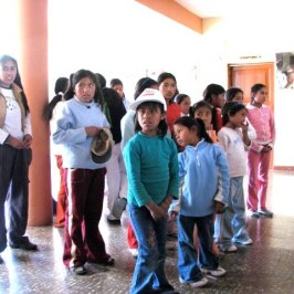 At a visit to an orphanage the young girls sang to us.