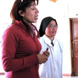 Our guide Maluska with one of the four young nuns who run the orphanage.