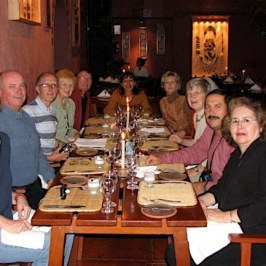Our travel group at the last dinner.