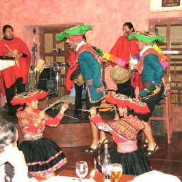 Dancers entertaining at the last dinner.