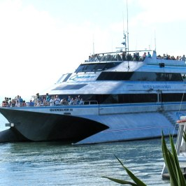 We rode this boat to visit the Great Barrier Reef.