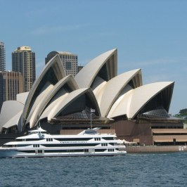 Opera house as seen from the water.