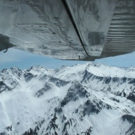 Aboard a small aircraft on our way to Milford Sound. Sometimes our wingtips almost touched the snow.