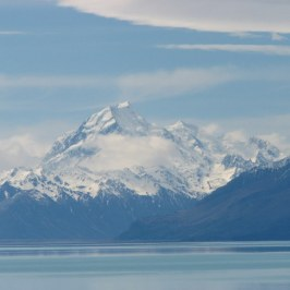 A view of Mt. Cook. This is the highest mountain.