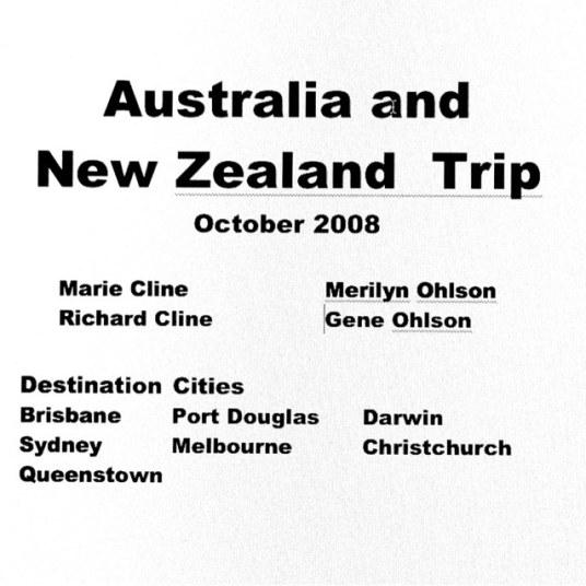 Australia, New Zealand Trip