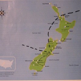 Our stops in New Zealand.